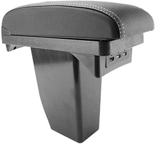 Dual Layer Black Leather Arm Rest Center...
