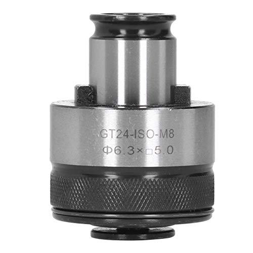 Portabrocas de boquilla flotante premium de 6.3 x 5 mm, portabrocas de acero de alta velocidad M8, portabrocas de torsión de acoplamiento rápido, protección contra sobrecarga, para máquinas de roscado