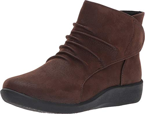 Clarks womens Sillian Sway Ankle Bootie, Brown, 9.5 Narrow US