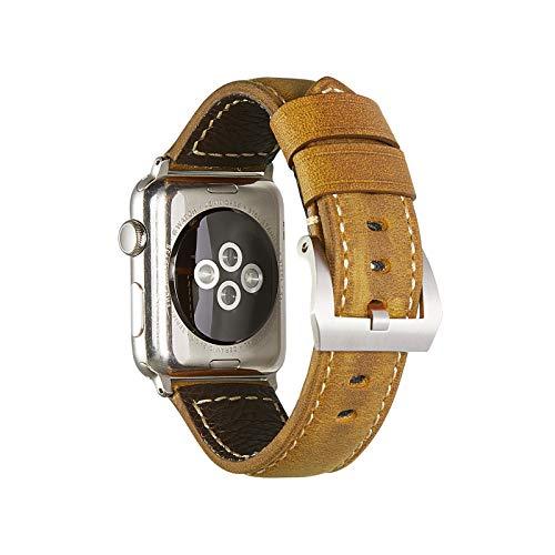Yierya Correa Adecuada para Apple Watch Series 5/4/3/2/1,Piel Correa/Pulsera/Strap para iwatch 38mm 40mm Reemplazo Banda para Mujeres & Hombres