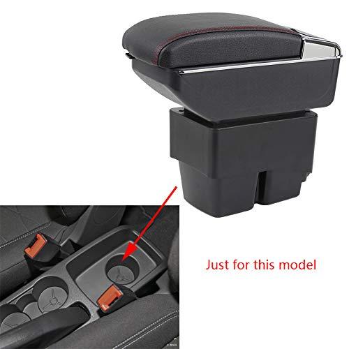 Pour 2009-2017 F ord Fiesta 3 MK7 De luxe Voiture Accoudoir Accessoire Interne avec éclairage LED Noir