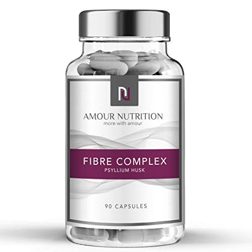 Fibre Complex, 3 Ingredient Formulation Containing Psyllium Husk, Inulin, Lactobacillus Acidophilus 10 Billion, 90 Capsules, Prebiotic, Probiotic, Aid Digestive Health and Function