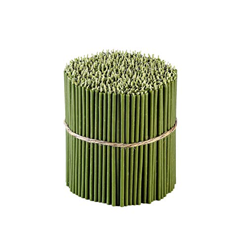 Danilovo Beeswax Taper Candles (Green) - Orthodox Church Candle Tapers for Prayer, Ritual, Christmas - No Soot, Dripless, Tall, Bendable, N140, Height 16 cm, Ø 5 mm (100 pcs - 285 g)
