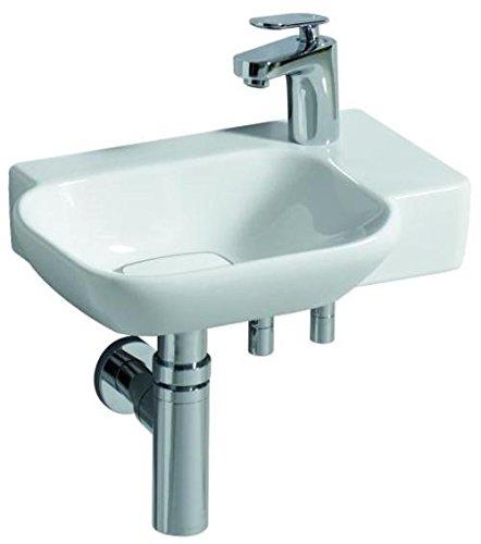 Keramag Handwaschbecken myDay ohne Überlauf 400x105x280mm HL re KeraTect weiß(alpin)