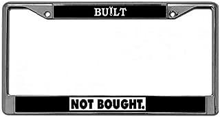 ken fi Built Not Bought License Plate Frame Cover,Car License Plate Frame Zinc Metal,Custom Aluminum Metal License Plate Frame Fits US & Canadian Vehicles
