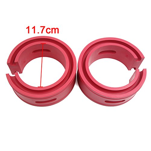 uxcell Type-B Red Car Auto Rubber Shock Absorber Spring Bumper Buffer Power Cushion 2pcs