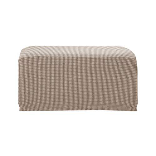 LOVIVER Quadratischer Hocker Husse Bezug Stuhlhusse Stuhlbezug für Hochzeit Haus Büro - Sand Farbe
