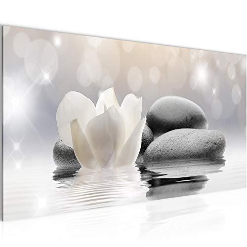 Wandbilder Blumen Tulpen Modern Vlies Leinwand Wohnzimmer Flur Spa Zen Grau 506012a