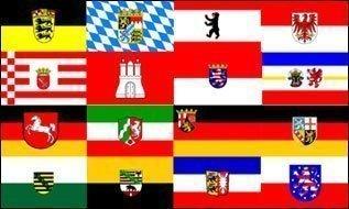 Deutschland 16 Bundesländer Flagge 90 * 150 cm