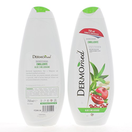 Dermomed Bagnoschiuma Aloe&Melograno, 750 Millilitri
