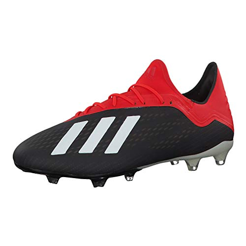 adidas Herren X 18.2 Fg Fußballschuhe, Mehrfarbig (Negbás/Casbla/Rojact 000), 43 1/3 EU