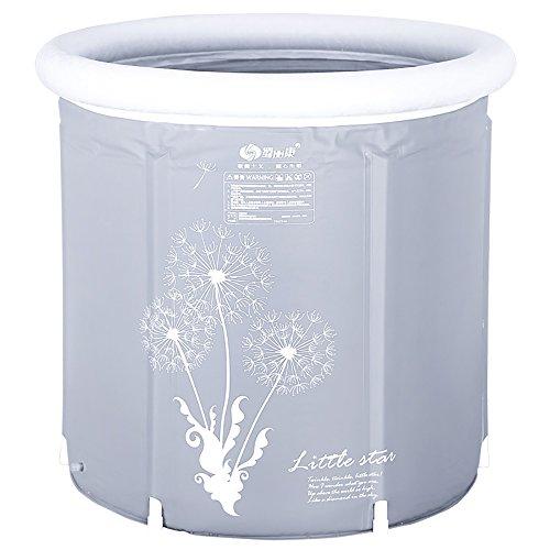 Baril de Bath adulte pliant la baignoire en plastique d'épaississement de maison de corps d'isolation de corps (Couleur : 75 * 75cm+bath bag)
