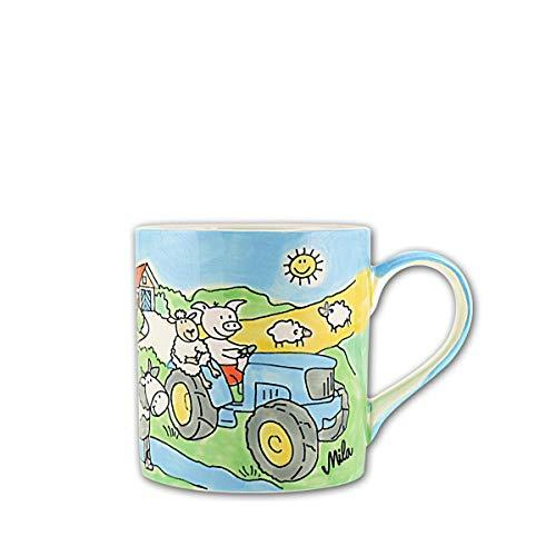 Mila Keramik Kinder-Becher, Bauernhof | MI-79181 | 4045303791817