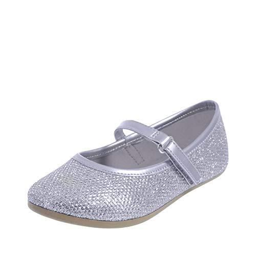 professional SmartFit Silver Girls Shimmer Chelsea Flat 6.5 Normal Girls