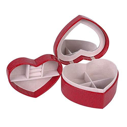 WYZQ Joyero para Mujer Caja de Papel para Almacenamiento de Joyas para Almacenamiento de artículos pequeños Caja de Almacenamiento para Joyas Accesorios Cajas de Almacenamiento (Rojo) Organizadores
