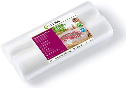 culivac Rollos de plástico para envasar al vacío Professional de 28 x 600 cm,...