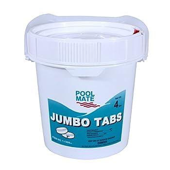 Pool Mate 1-1404 Jumbo 3-Inch Swimming Pool Chlorine Tablets 4-Pounds