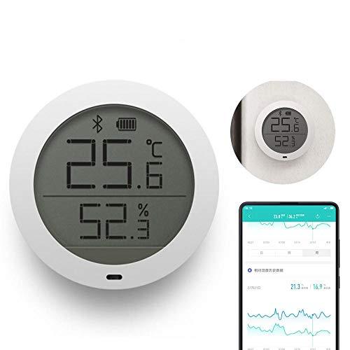 LayOPO Termómetro de Interior Higrómetro Digital, para Xiaomi Mijia Sensor de Humedad de Temperatura Bluetooth con Pantalla LCD Remota Ver en Mi Home