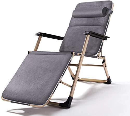 OESFL Playa Silla Ajustable Silla Plegable reclinable Almuerzo Cama Mecedora al Aire Libre Plegable sillas de Campo portátil de sillas de Oficina de Cama, 03