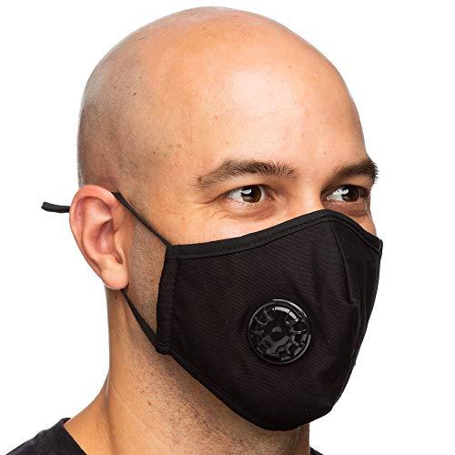 Debrief Me Dust Mask  Air Filtration Pollution Breathable Respirator Masks (1 Mask + 2 Filters)(Black)