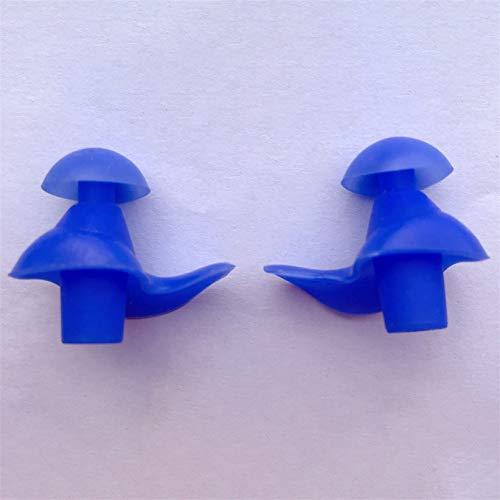 SJHFG Tapones para los oídos de silicona flexibles, resistentes al agua, portátiles, para natación, reducen el ruido cuando duerme, regalo para amigos, color azul