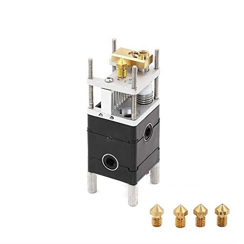 MANMANYU Dual Extruder Olsson Block Kit Nozzles 0.4mm HotEnd Dual Heads For 1.75mm Filament 3D Printer UM2 Ultimaker 2 Printer Accessories (Size : 3.0mm)