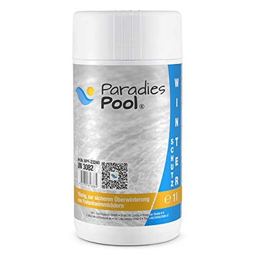 Paradies Pool Winterschutzmittel für Pool, 1 Liter schaumfrei Überwinterung Schwimmbecken