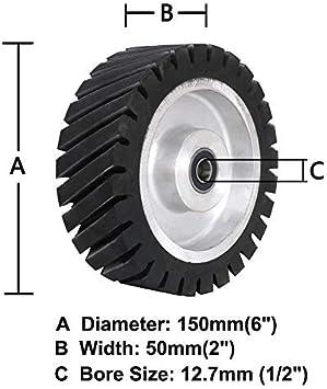 Amoladora de correa de goma rueda dentada de goma lijadora de la rueda para rodamientos de la correa de la molienda