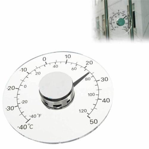 Vinciann Termometro analogico Misura Temperatura Esterno casa Auto Adesivo Finestra
