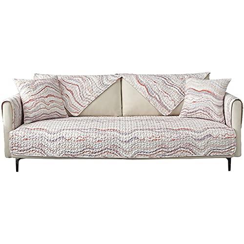 ZSDCG Protector de muebles para sofá chaise lounge, funda de sofá seccional de algodón de color blanco, fundas de sofá