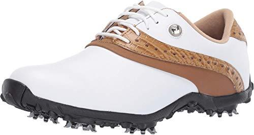 FootJoy Women's LoPro Collection Golf Shoes White 9.5 M Tan, US