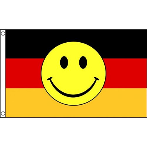 1.52 x meters 0.91 meters (150 cm x 90 cm) Germany Bundeswehr Happy Smiley-Vorderseite: 100% Polyester, Material Fahne Flagge Banner, Ideal für Pub, Club, Schulfest Business Party-Dekoration