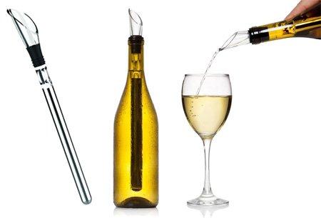 Weinkühler Freeze 3 in 1 Edelstahl Weinflasche Kühler Stick Kühlstab Belüfter und Ausgießer