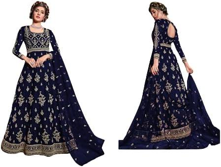 Shafalie's Fashions Net Anarkali Suit