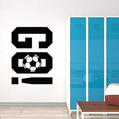 Muursticker, behang, sticker, voetbal, muurtattoo, voetbal, go, go, spel, team, sport, ramen, sticker, creatieve wooncultuur, voor kinderen, jongens, slaapkamer, 57 x 78 cm