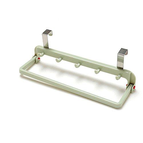 Falten, der Tür Badezimmer Küche Schrank Schrank Aufhänger Organizer Regal über Handtuch Rack zum Aufhängen Halterung M grün