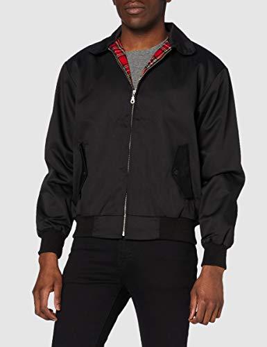 Knightsbridge Harrington Jacket veste automne veste scooter veste veste de bombardier beaucoup de couleurs pour hommes taille XS-3XL (S, Noir)