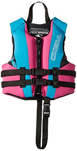 O'Neill Wetsuits Child Reactor USCG Life Vest, Pet/Turquoise/Black, 1SZ, 30-50 lbs