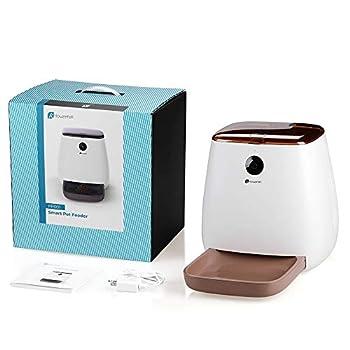 Houzetek 3.3L Distributeur Croquettes Chat et Chien Automatique pour APP programmable,WiFi Caméra HD 1080p Distributeur Croquettes pour Animal de Compagnie Vision Nocturne