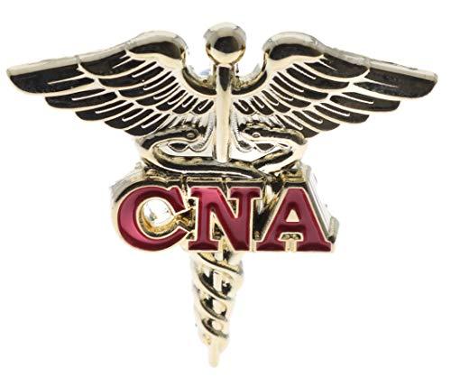 CNA Certified Nurse Assistant Caduceus Hat or Lapel Pin PMS692 F4D27D