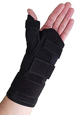 Thumb Spica Splint & Wrist Brace – Both a Wrist Splint and Thumb Splint to Support Sprains, Tendinosis, De Quervain's Tenosynovitis, Fractures or Trigger Thumb Hand Brace for Carpal Tunnel (Left Large
