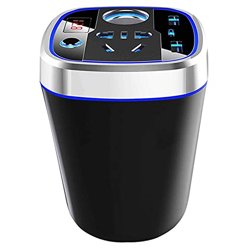 J-Love Inversor de Corriente de 150 W Inversor de Enchufe Inteligente para automóvil a 220 V, CC a CA, conversión de Onda sinusoidal Pura, Carga rápida Inteligente, Triple USB, Ocho Protecciones