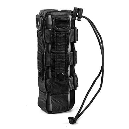 Adjustable Tactical MOLLE Water Bottle Holder Carrier Military Kettle Bag Pouch