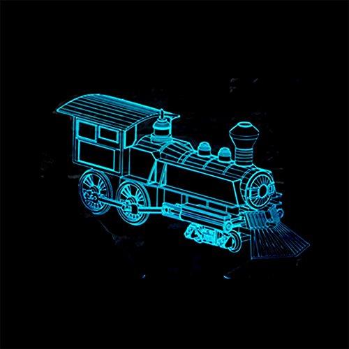 baby Q LED 3D Illusion Lampe, Entraînez Les lumières visuelles tactiles colorées, lumières actionnées par USB, Lampe-Cadeau Acrylique