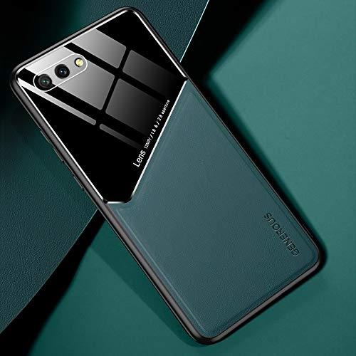 RUNNA para Huawei Honor 10 Cuero Todo Incluido + Funda Protectora de Vidrio orgánico con Chapa de Hierro metálico (Color : Green)