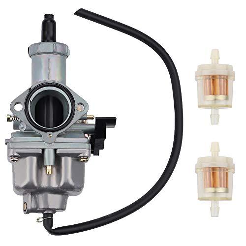 Tvent XR200 Carburetor w Fuel Filter Replacement for XR 100 XR 100R XR100R XR100 CRF100F XR200 XR200R XL125S XL100S CB125S