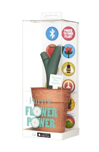 Parrot Flower Power - Wireless Indoor/Outdoor Bluetooth Smart Plant Sensor with Free dedicated App -...