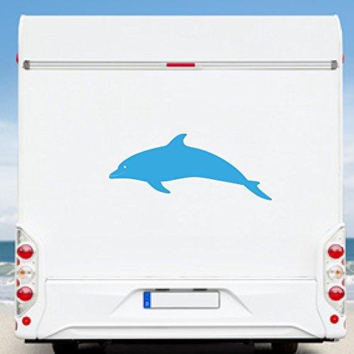 KINGZDESIGN® WA2131 - Wohnmobil Aufkleber - Wohnwagen Aufkleber - Delfin