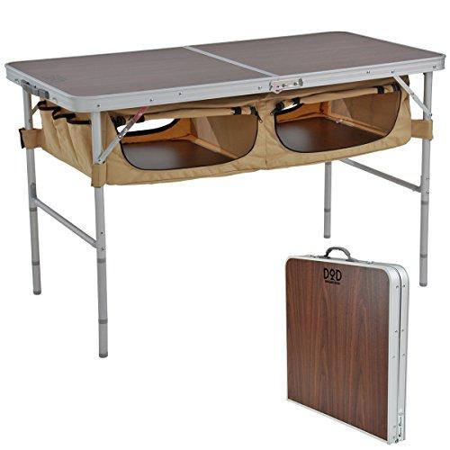 DOD(ディーオーディー) ストレージアウトドアテーブル 大容量収納 テントサイトがすっきり TB5-110T