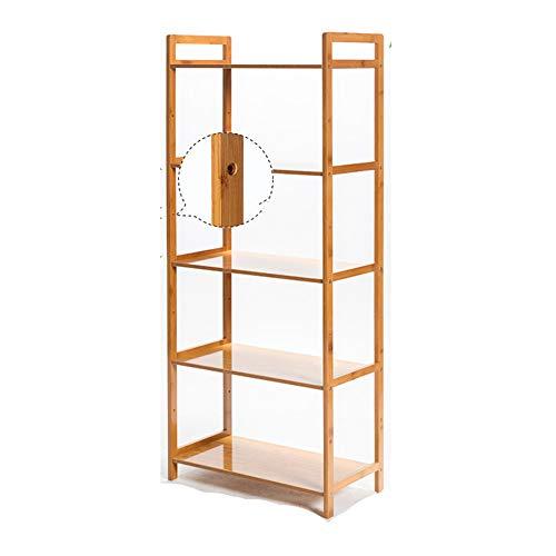 KELE bamboe boekenplank, eenvoudige woonkamer boekenkasten massief hout opslag rek badkamer badkamer vloer houten planken in huis keuken